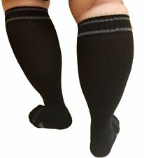 Compression Socks, Large Full Calves - Wider Calf and Ankles Plus Arch Support,