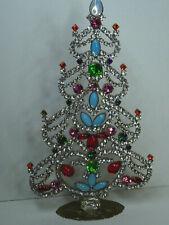 Christbaum Aufsteller Weihnachtsbaum Christmas tree Strass Gablonz Glas 20cm