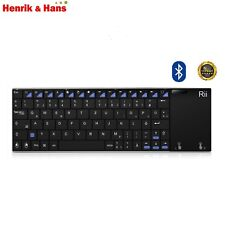 Rii K12 2017 Mini Bluetooth 3.0 Tastatur mit Touchpad Wireless Keyboard Deutsch