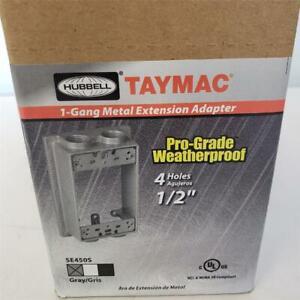 "= Lot of 6 Hubbell Taymac Pro-Grade Weatherproof 4 Holes 1/2"" SE450S Adapter"