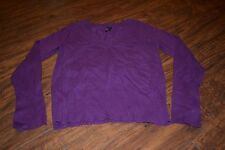 C7- Take Out Long Sleeve V-Neck Purple Top Size XL