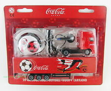 COCA COLA sammlertruck + ohrradio Calcio Design Logo SOFT DRINK COCA COLA NUOVO OVP