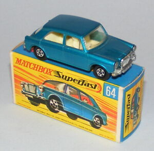 MATCHBOX SUPERFAST #64a MG 1100 VINTAGE 1970 ISSUE NEAR MINT BOXED