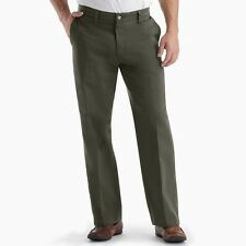 NEW Mens 32x34 Olive Green Flat Custom Relaxed Fit  Khaki Pants by Lee  #j