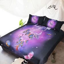 Dreamcatcher Butterfly Purple Bedding Set Quilt Duvet Cover+2 Pillowcase US AU