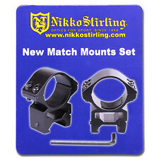 Nikko Rifle Scope MOUNTS 2 Piece 30mm Tube MEDIUM Weaver Picatinny RIS Rail Ring
