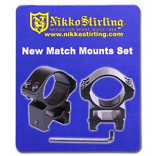 Nikko Rifle Scope MOUNTS 2 Piece 30mm Tube MEDIUM Weaver Picatinny RIS Rail Ring