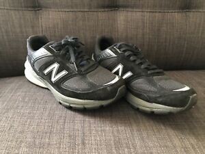 New Balance 990V5 Womens Size 8.5 D Running Shoes Black Silver VERY Lightly Used