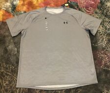 Nwt Mens 2Xl Gray Patterned Under Armour Tech T Short Sleeve Shirt #1328189 $25