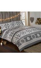 Stockholm 100% Brush Cotton Flannelette Duvet Set King Cheapest On Ebay Grey
