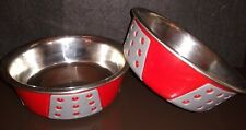 Tribeca 15 oz. Red Non-skid Stainless Steel Small Dog, Cat, Pet Food Water Bowl