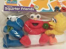 New Sesame Street Baby Bath 3 Pack squirter Friends Cookie Monster Elmo Big Bird