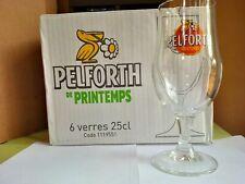 6 verres à bière PELFORTH de printemps 25 cl + 6 sous bocks