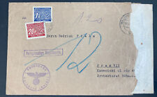 1941 Waldheim BM Germany Arbeitslager Slave Labor Prison Cover to Prague