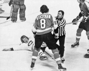 Philadelphia Flyers DAVE SCHULTZ Glossy 8x10 Photo 'The Broad Street Bullies'