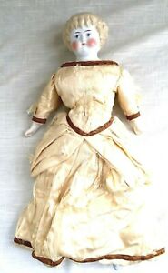 """Vintage Porcelain Doll, Molded Blonde Highland Mary Hair, Hand Painted  17"""" - #5"""