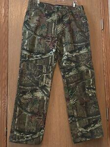 Mossy Oak Camo Pants Reinforced Knee Mens Size 34 x 32 Nwot E1300