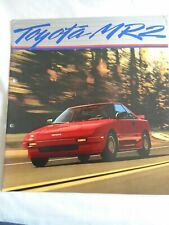 1992 TOYOTA MR2 New Zealand 4p Brochure Folder W20