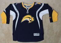Reebok Buffalo Sabers Hockey Jersey - Youth Child L/XL Blue Slug