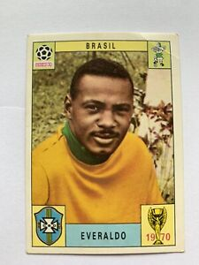 Original Panini Mexico 70 1970 Everaldo Brasil Brazil Unused. One Of The Rare 80