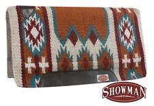 "36""x34"" Cutter Saddle Pad w/ Memory Felt & TURQUOISE & ORANGE Navajo Design! NEW"