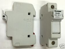 BUSSMANN 10x38 DROP DOWN FUSE HOLDER CARRIER 32 AMP CH101D 32A 10mmx38mm FUSES