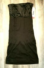 SPANX SLIMMER & SHINE STRAPLESS FULL SLIP BLACK sz L LARGE NWOT