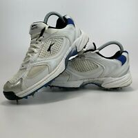 Adult Slazenger Cricket Shoes Trainers with Spikes Size UK 6 Euro 39.5 White