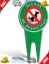 Dog No Poop Signs Yard Lawn Outdoor Grass Please Be Respectful Animal Pet New