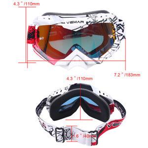 Motorbike Sport Goggles Anti-UV Dirt Bike ATV Snowboard Skiing Eye Protection