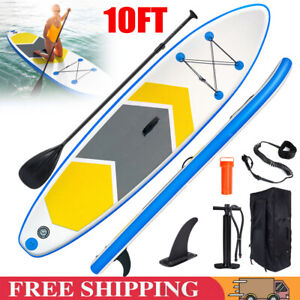 10FT Inflatable Stand Up Paddle SUP Board Surfing Surf Board Paddleboard UK NEW