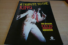 ELVIS - A TRIBUTE TO THE KING - OFFICIAL ELVIS MONTHLY SOUVENIR - MAGAZINE 1977.