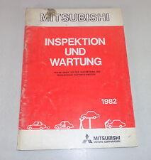Manual de Taller Mitsubishi Inspección y Mantenimiento Ab 1982