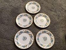 """More details for rare vintage  6"""" five tea plates royal grafton bluebells 1957 kendal"""