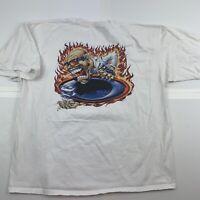 Men's OAKLEY Mad Nitro Scientist Rolling O Icon T Shirt XXL 2XL Original Rare