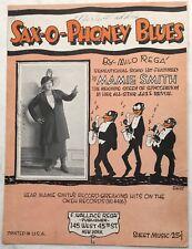 1921 Poster Quality BLACK BLUES SINGER sheet music w/pic MAMIE SMITH SaxOPhoney