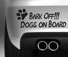BARK OFF DOGS FUNNY CAR BUMPER STICKER. DRIFT VAN VINYL DECAL GRAPHIC LAPTOP