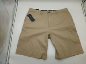 "Brand New Tommy Hilfiger Mens Khaki Beige Tan Shorts Size 36 Inseam 9.5"""