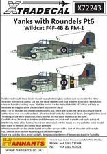 Xtradecal 1/72 Yanks avec insigne circulaire partie 6 MK. IV/Mk. V Wildcats (F4F-4) # 72243