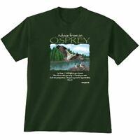 Osprey T shirt S M L XL 2XL Advice From Cotton NWT Green New Gildan Short Sleeve