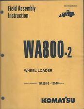 Equipment Manual - Komatsu - Wa800-2 Wheel Loader - Field Assembly (E4293)