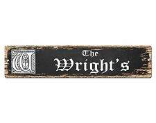 SP0471 The WRIGHT'S Family name Plate Sign Bar Store Cafe Home Chic Decor