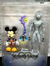 "Disney Kingdom Hearts ""Mickey and Dusk w/Keyblade"" Series 1 Action Figure Set"