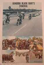 BANDIDO BLACK BART'S FUNERAL Vintage 1971 BIKERS poster 22.5x35