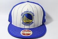 New Era 59Fifty Vintage stripe front Golden State Warriors ivory/blue Rare 7 1/4