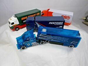 4 x Die cast Commercial Vehicles EDDIE STOBART TNT PICKFORDS HOT WHEELS