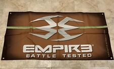 "New Empire Battle Tested Logo Cloth Banner Wall Hanging 48""x 24"" Paintball Promo"