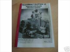 Maximat Super 11 Lathe Manual