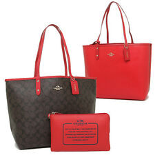 COACH F36658 SIGN REVERSIBLE CITY TOTE - bright red