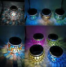 Solar Powered Mosaic Glass Garden Lights Color Changing Solar Outdoor LED Light